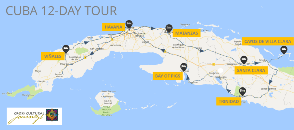 Map of itinerary