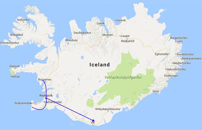 Iceland Route MapWS