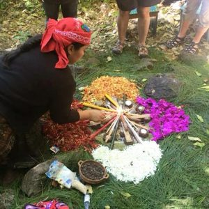 Mayan fire ceremony with Nana Andrea, November 2017